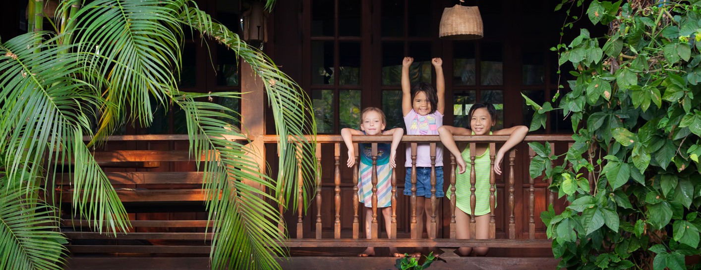 Family rooms at the secret garden in Chiang Mai, Thailand