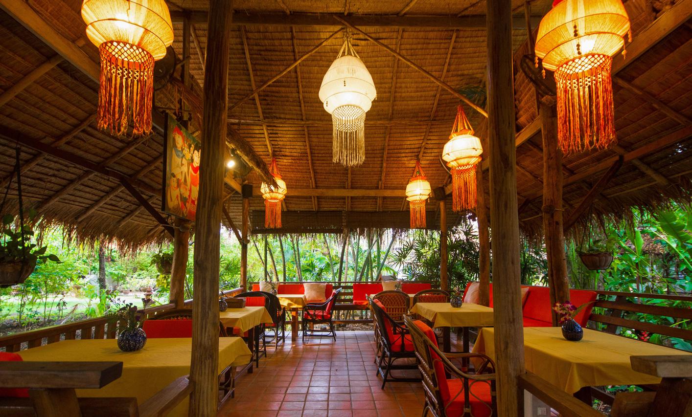 Group area at the Secret Garden, Chiang Mai, Thailand