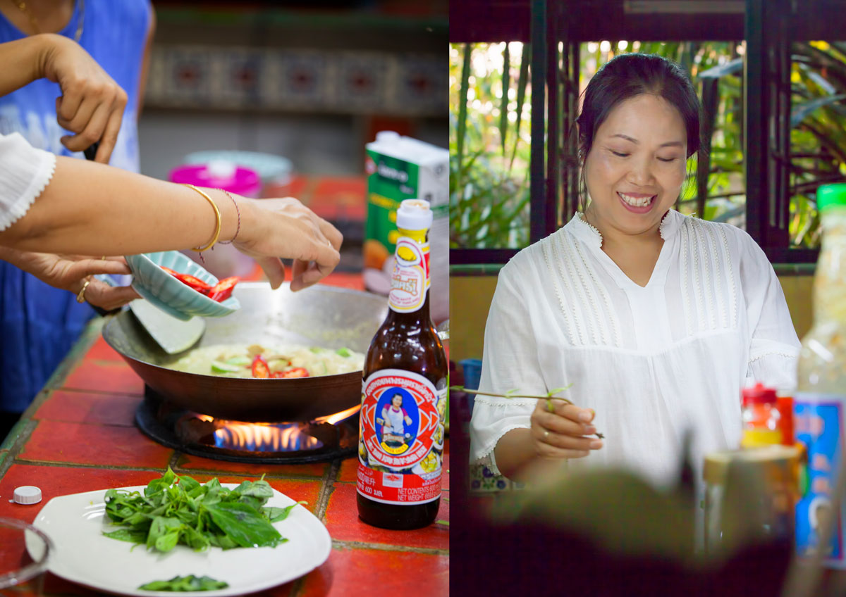 Kitchen at the Secret Garden, Chiang Mai, Thailand